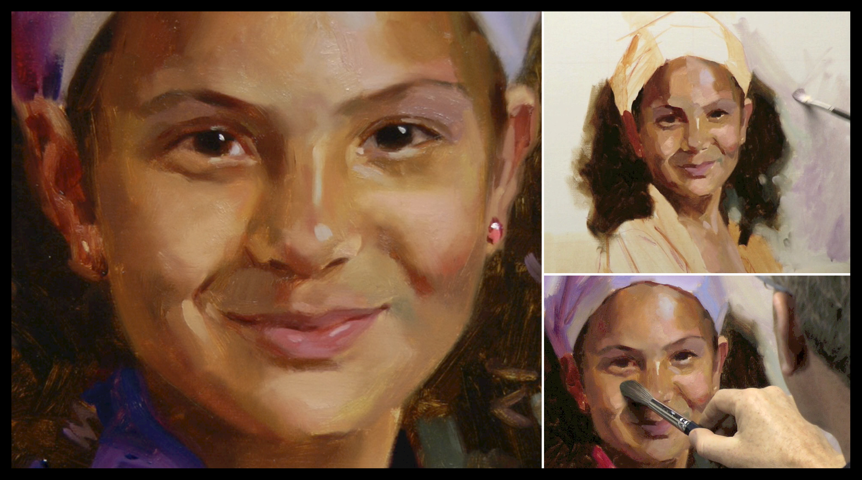 Pre mixing flesh tones for portrait painting portrait of a little girl baditri Image collections